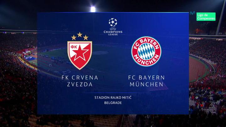 Champions League: Resumen y Goles del Estrella Roja - Bayern Múnich