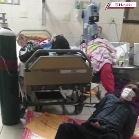 El IHSS colapsado de pacientes covid-19