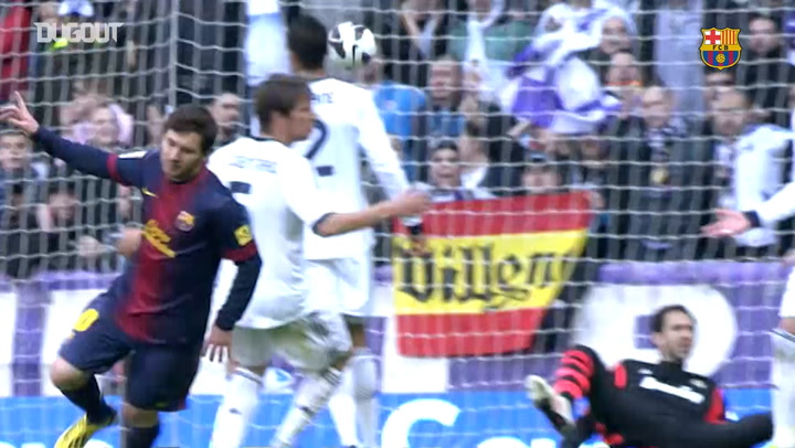 Lionel Messi's best goals at Santiago Bernabeu