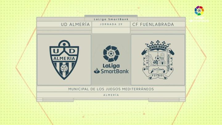 LaLiga SmartBank (J29): Resumen del Almería 0-0 Fuenlabrada