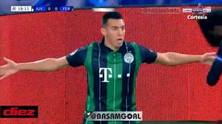 Myrto Uzuni festejó como Cristiano Ronaldo y en su cara