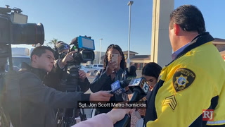 Police briefing on homicide investigation in northeast Las Vegas – VIDEO
