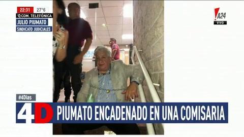 Piumato se encadenó en una comisaría por la detención de una funcionaria judicial
