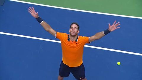 Del Potro confirmó su candidatura a ganar el US Open