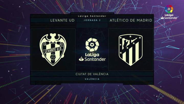 LaLiga Santander (J2): Resumen y goles del Levante 1-1 Atlético