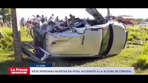 Siete personas muertas en fatal accidente a la altura de Corozal