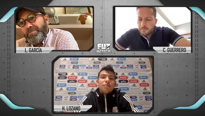 """Hirving Lozano : """"Hay muchos clubes en los que me gustaría jugar, como el Barcelona"""""""