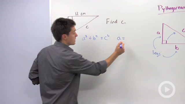 Using the Pythagorean Theorem to find a Missing Hypotenuse - Problem 1