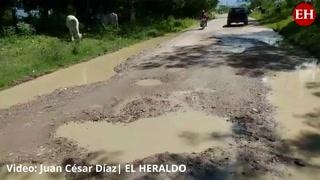 Destrozadas por lluvias se encuentran carreteras de Choluteca y Comayagua