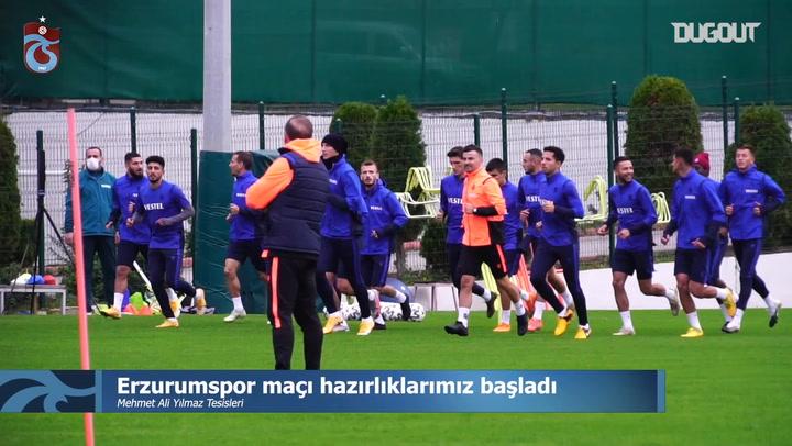 Trabzonspor, Erzurumspor'a Hazırlanıyor