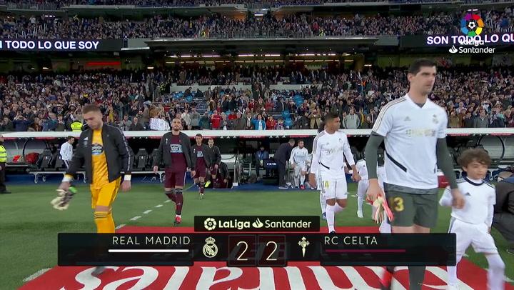 LaLiga (J24): Resumen y goles del Real Madrid 2-2 Celta