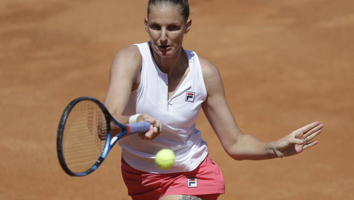 Pliskova, tercera final consecutiva en Roma
