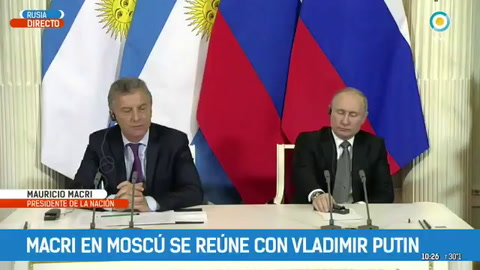 Macri le agradeció a Putin la ayuda para buscar el ARA San Juan