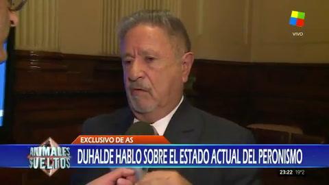 Duhalde afirmó que el peronismo está destruido