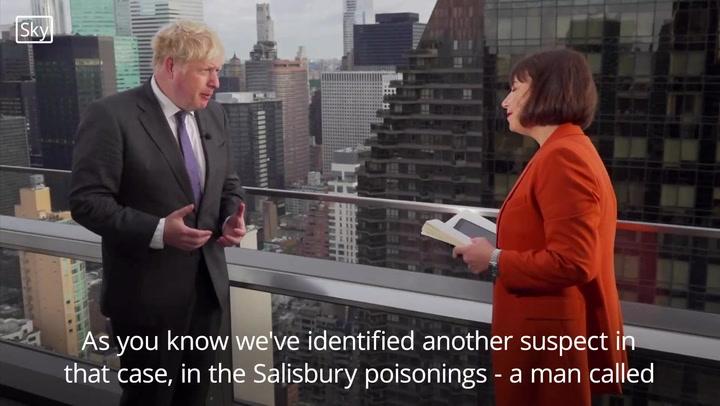 Boris Johnson calls on Russia to hand over Salisbury poisoning suspects