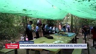 Hallan supuesto narcolaboratorio en zona montañosa de San Pedro Sula