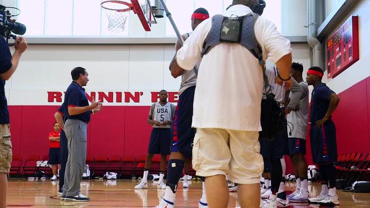 Training Camp Day 1 Recap 2016 U.S. Olympic Men's Basketball Team
