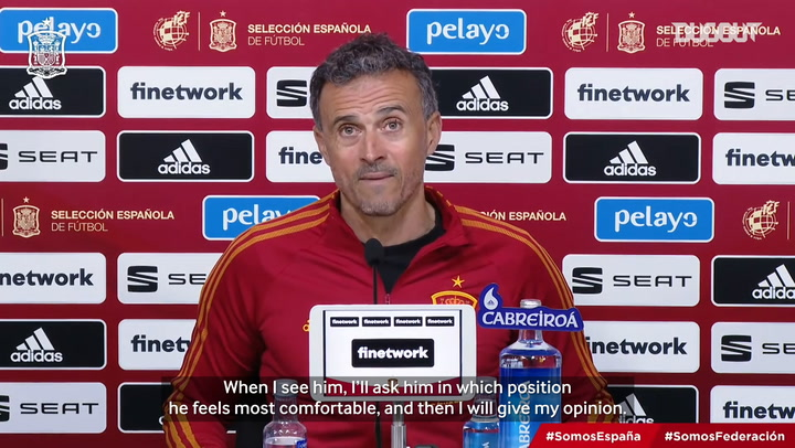 Luis Enrique: 'I can see Marcos Llorente playing in any position'