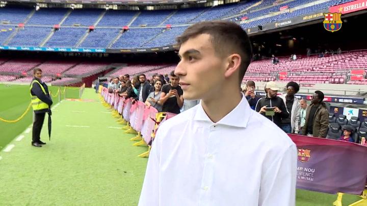 Pedri visitó las instalaciones de su nuevo club, el F.C. Barcelona
