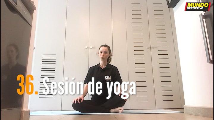 ENTRENA EN CASA (36): Sesión de yoga