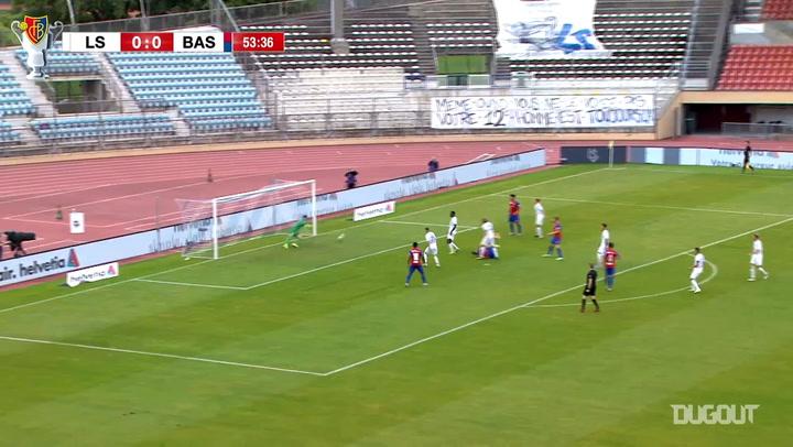 Arthur Cabral's brilliant overhead kick vs Lausanne Sport