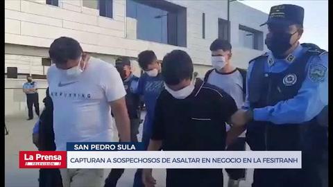 Capturan a sospechosos de asaltar en negocio mientras jugaban Honduras y EEUU