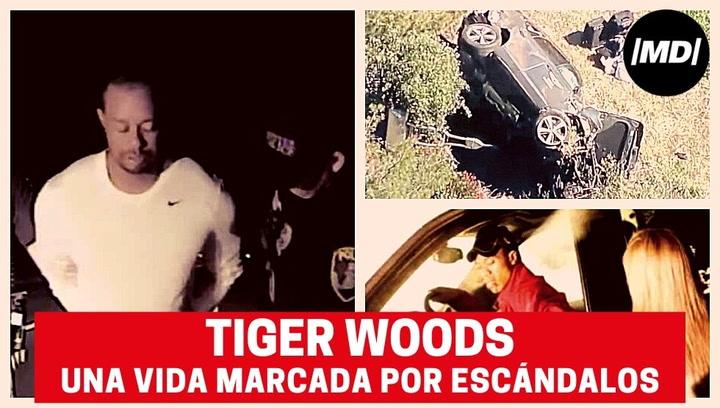 Tiger Woods, una vida marcada por los escándalos