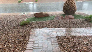Hail, rain in Las Vegas Valley