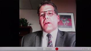 Duluth Superintendent John Magas provides COVID-19 update during Thursday news conference. (Samantha Erkkila/serkkila@duluthnews.com)
