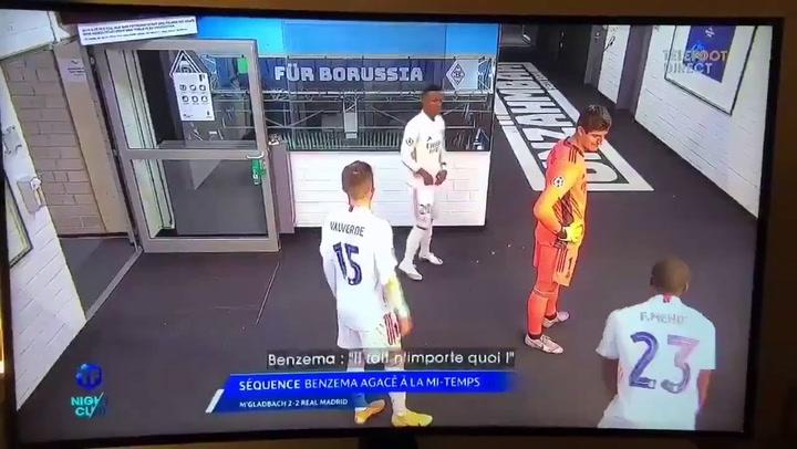 Un vídeo de 'Telefoot' muestra una supuesta 'rajada' de Karim Benzema sobre Vinicius