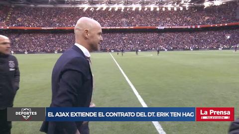 Ajax extiende el contrato del entrenador Erik ten Hag hasta 2022