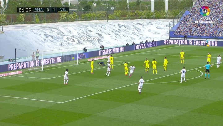 Gol de Bezema (1-1) en el Real Madrid 2-1 Villarreal