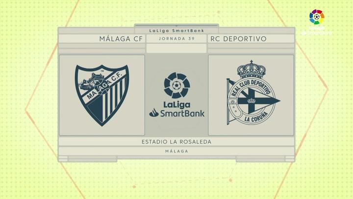 LaLiga SmartBank (J39): Resumen y goles del Málaga 1-0 Deportivo