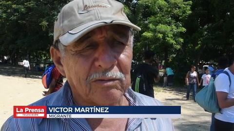 Hondureños explican causas de su travesía