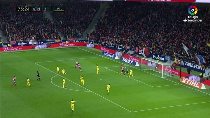 Gol de Joao Félix (3-1) en el Atlético de Madrid 3-1 Villarreal