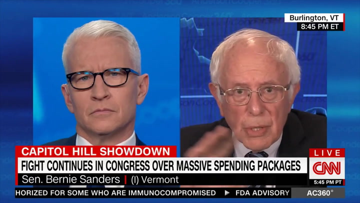 Sanders: 'Unfair' Manchin and Sinema Think They Have 'Right to Obstruct' What '48 out of 50 Members, 96% of the U.S. Senate' Supports