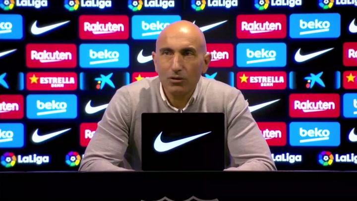 """Abelardo: """"Nos ha faltado agresividad en defensa en el primer tiempo"""""""