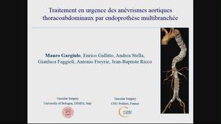 Traitement en urgence des anévrismes aortiques thoracoabdominaux par endoprothèse multibranchée. Etude de faisabilité