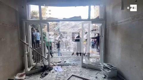 Imágenes de la torre bombardeada en Gaza por Israel