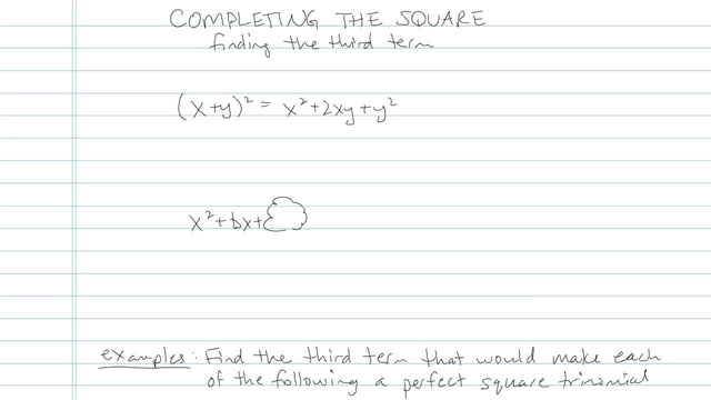Completing the Square - Problem 5