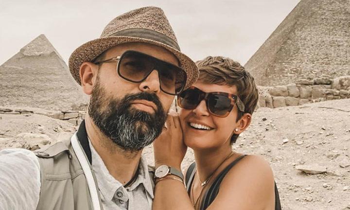 El impresionante álbum de fotos de Risto Mejide y Laura Escanes en Egipto