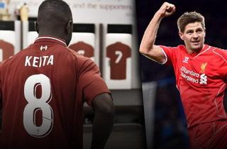 Keita se siente un privilegiado por vestir el '8' de Gerrard