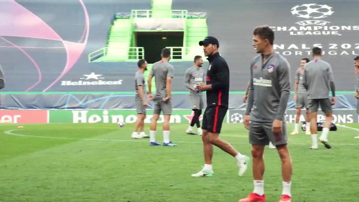 El Atlético prepara su estreno en la fase final de la Champions League