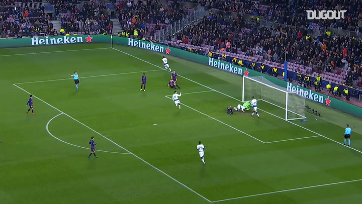 Lucas Moura slides home crucial equaliser against FC Barcelona