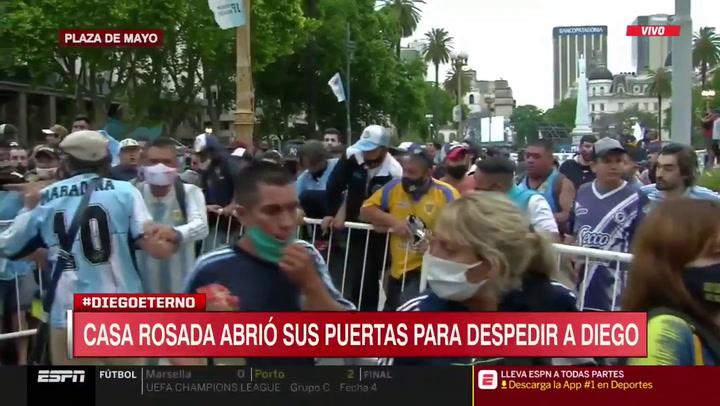 ¡Impresionante! Así estaba la Casa Rosada cuando han abierto las puertas para despedir a Maradona