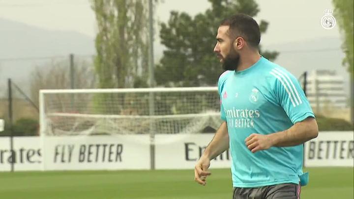 Primera sesión de la semana del Real Madrid sin internacionales