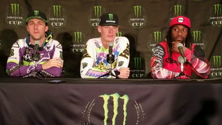 Monster Energy Cup winners talk at press conference