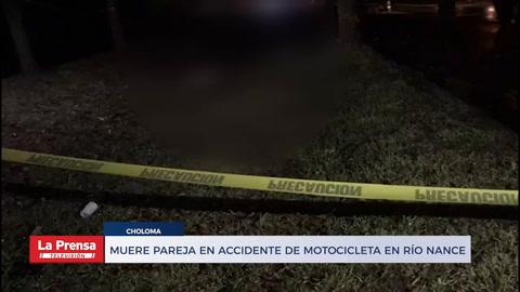 Muere pareja en accidente de motocicleta en Río Nance