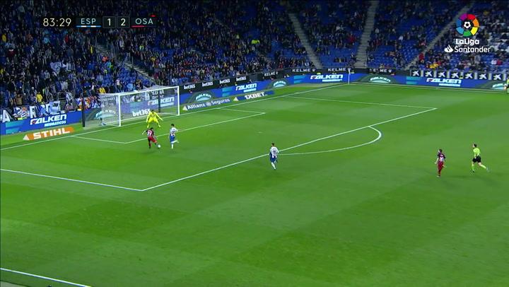 Gol de Moncayol (1-3) en el Espanyol 2-4 Osasuna