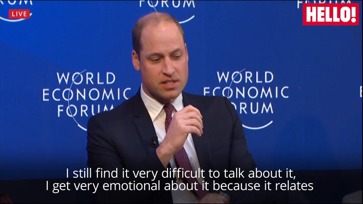 Prince William chokes up as he struggles to talk about